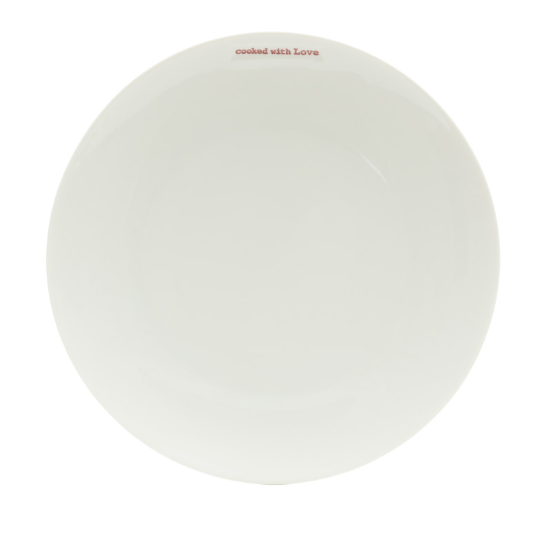 Large Dinner Plate - cooked with Love