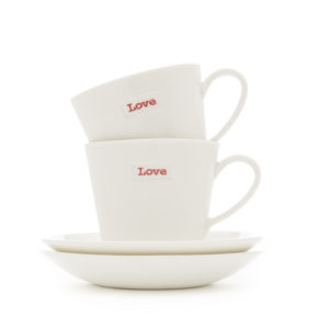 Keith Brymer Jones Espresso Cup & Saucer Pair - Love Love