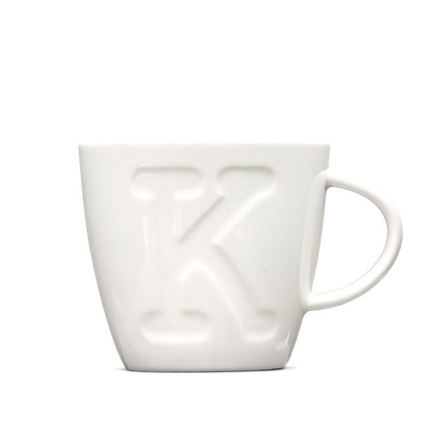 Alphabet Mugs 380Ml - K