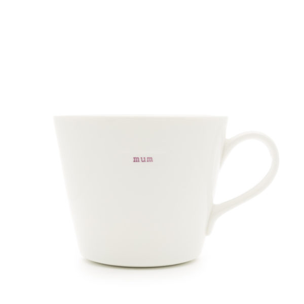 "White Bucket Mug ""artist"" 350ml"