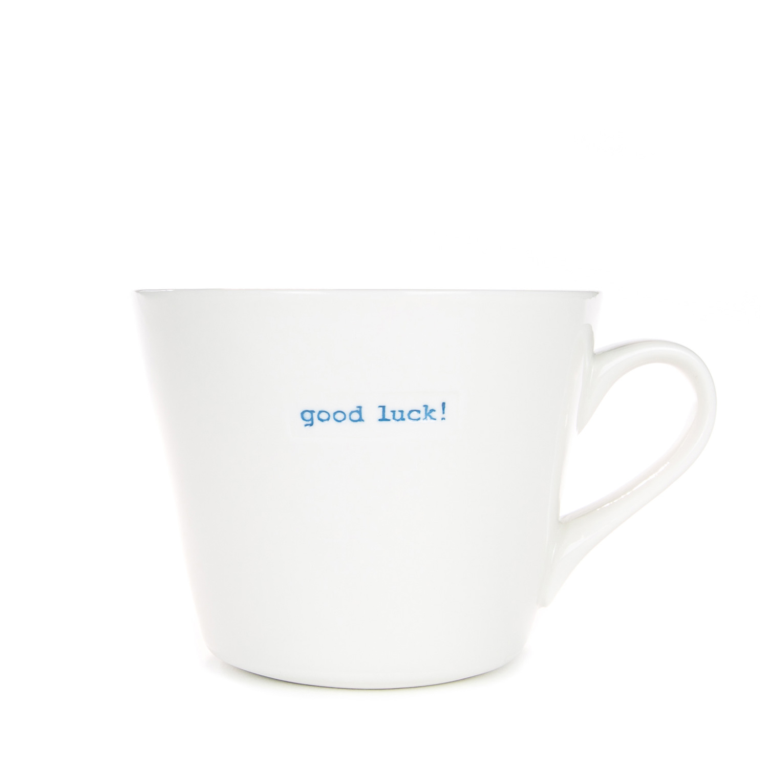 Standard Bucket Mug 350ml - good luck!