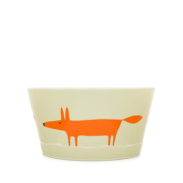Scion Mr Fox Bowl - Neutral & Orange