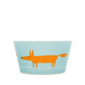 Scion Mr Fox Bowl - Duck Egg & Orange