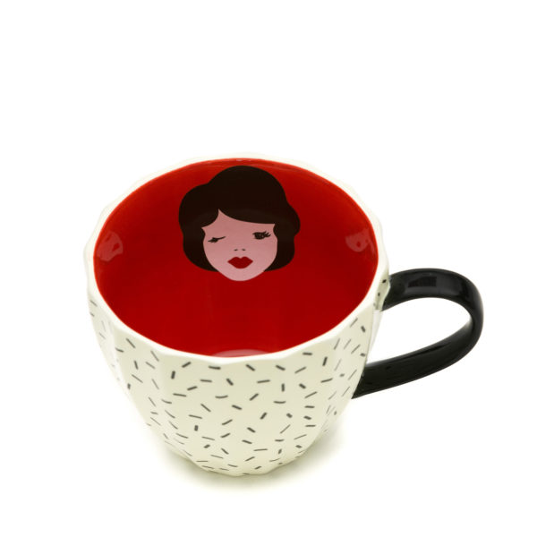 Tatty Devine Mug | Vintage Lady (gift boxed)