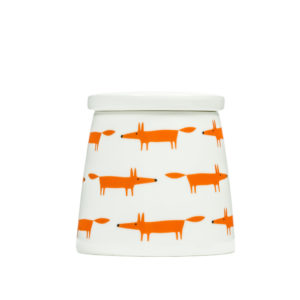 Mr Fox Storage Jar | Large | Ceramic & Orange Multi