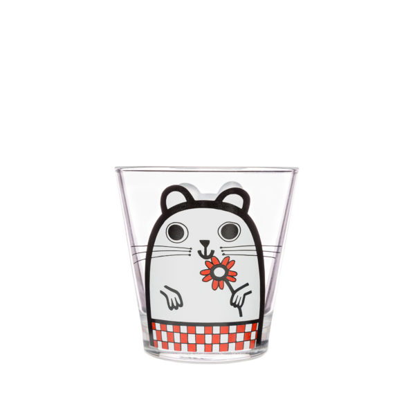 Jane Foster Design Glass Tumbler Hamster