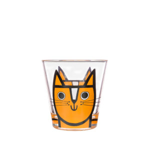 Jane Foster Design Glass Tumbler Ginger Cat